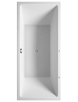 Duravit Vero Air 1800 x 800mm Back To Wall Whirltub With Air System