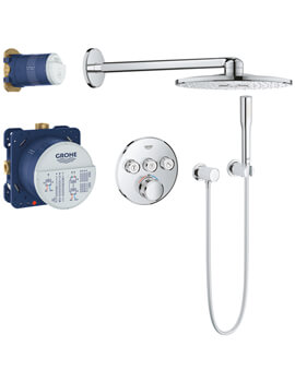 Grohe Grohtherm Smartcontrol Perfect Shower Set With 3 Valve Rain Shower 310 Smartactive