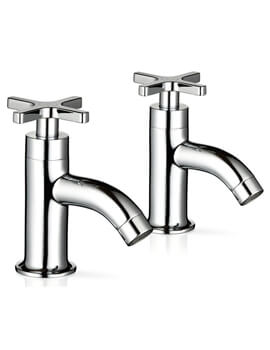 Mira Revive Pair Of Chrome Pillar Taps For Basin