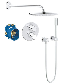 Grohe Grohtherm 3000 Cosmopolitan Perfect Shower Set With Rain Shower Cosmopolitan 160