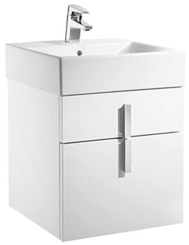 Roca Diverta Wall Hung Vanity Unit With 2 Drawer