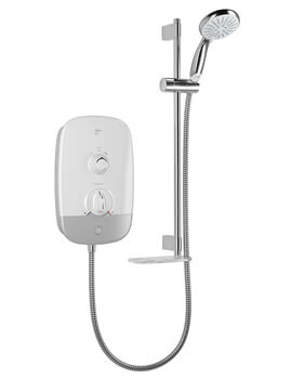 Mira Meta White-Chrome Electric Shower