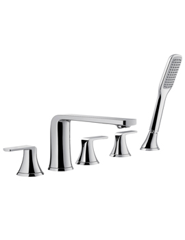 Flova Fusion 5 Hole Bath And Shower Mixer Tap