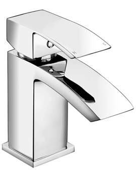 Deva Savvi Mini Mono Basin Mixer Tap with Press Top Waste Chrome