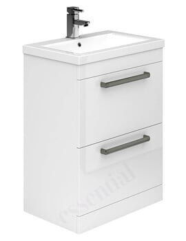 Essential Nevada 600mm 2 Drawer Vanity Unit And Basin