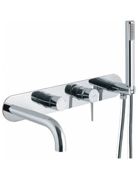 Abode Chao Wall Mounted Bath Shower Mixer Tap With Shower Handset