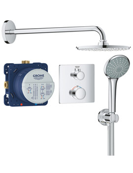 Grohe Grohtherm Perfect Shower Set With Rainshower Cosmopolitan 210
