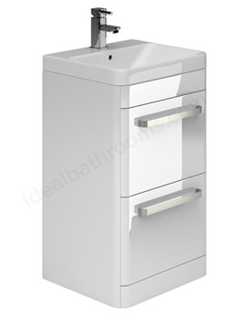 Essential Vermont 500mm 2 Drawer Vanity Unit And Basin