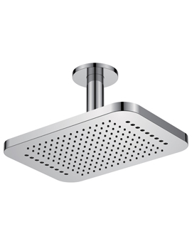 Flova Design 2 Function Ceiling Mounted Shower Head Rainshower With Rainstream