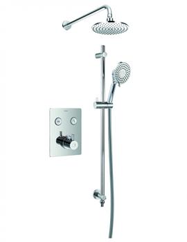 Flova Levo Thermostatic Goclick 2 Outlet Concealed Shower Pack