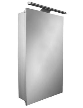 Roca Sol Single-Door Mirror Cabinet With LED Lighting - W 400 x H 700mm