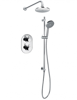 Flova Smart Thermostatic 2 Way Shower Pack With Riser Rail Set