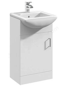 Essential Alaska 463mm Deluxe Basin Vanity Unit With 1 Door