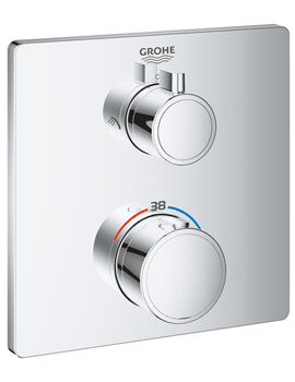 Grohe Grohtherm Thermostatic Shower Mixer For 2 Outlets With Integrated Shut Off Diverter Valve