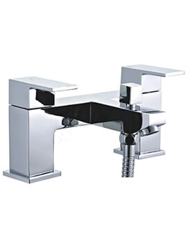 Essential Edgeware Bath Shower Mixer Tap With Kit And Wall Bracket
