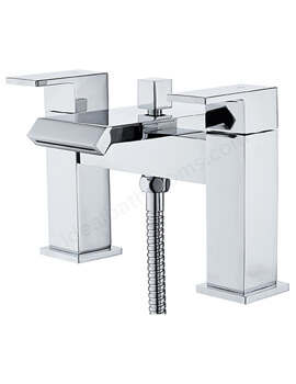 Essential Elsden Bath Shower Mixer Tap 2-Handle With Kit And Wall Bracket