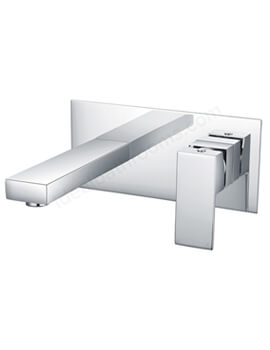 Essential Edgeware Basin Mixer Tap Wall Mounted