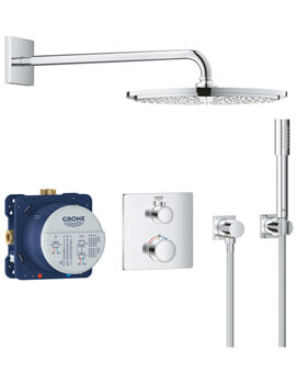 Grohe Grohtherm Perfect Chrome Shower Set With Rainshower Cosmoplitan 160
