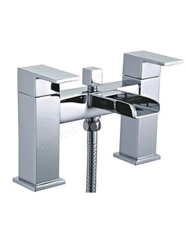 Essential Soho Bath Shower Mixer Tap 2-Handles - With Shower Kit And Wall Bracket