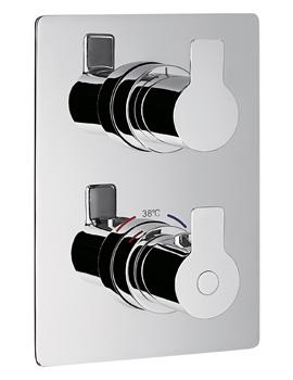 Flova Spring Thermostatic 3 Way Divert Trim Kit Valve With SmartBox