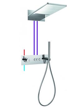 Flova Spring Goclick 3 Outlet Thermostatic Horizontal Concealed Shower Pack