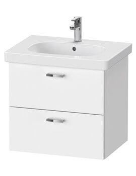 Duravit XBase 2 Drawer Vanity Unit For D-Code Basin