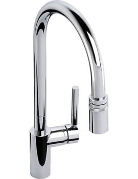 Abode Ratio Deck Mounted Single Lever Pull Out Kitchen Mixer Tap