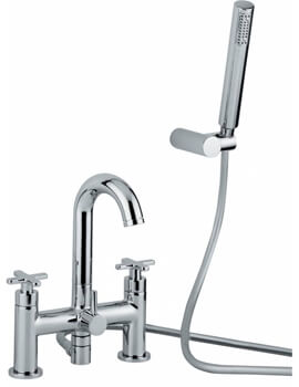 Abode Serenitie Deck Mounted Bath Shower Mixer Tap With Shower Handset