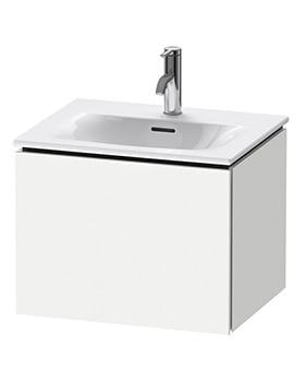 Duravit L-Cube 1 Pull-Out Compartment Wall Mounted Vanity Unit With Viu Basin