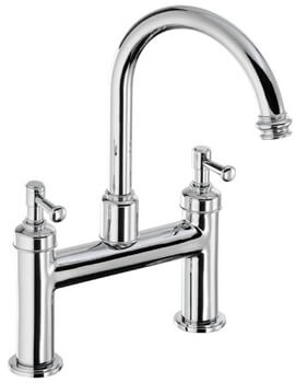 Abode Gallant Deck Mounted Traditional Bath Filler Tap