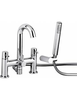 Abode Harmonie Deck Mounted Bath Shower Mixer Tap With Shower Handset