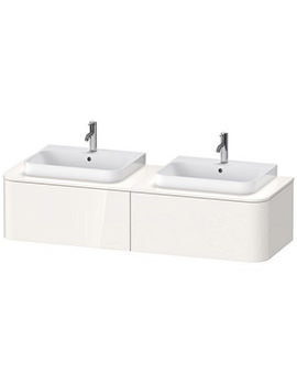 Duravit Happy D.2 Plus 1600mm Vanity Unit With 2 Pull-Out Compartment For Double Basin