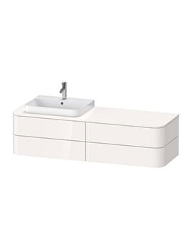 Duravit Happy D.2 Plus 1600 x 550mm 4 Drawer Vanity Unit With Console