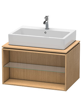 Duravit X-Large 800 x 548mm Wall-Mounted Opened Compartment Vanity Unit