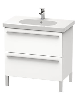 Duravit X-Large Floor Standing Vanity Unit With 2 Pull Out Compartment For D-Code Basin
