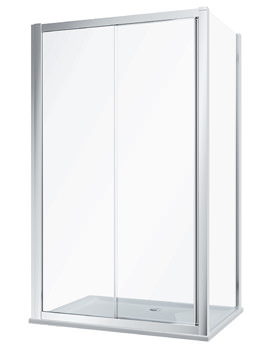 Twyford Geo Sliding Shower Door With 8mm Easy Cleaning Glass