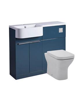 Tavistock Match 1000mm Oxford Blue Furniture Run - Left Hand