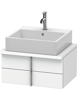 Duravit Vero 2 Drawer Wall Mounted Vanity Unit With Console Compact