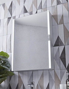 Tavistock Slide Single Door LED Illuminated 500 x 700mm Mirror Cabinet