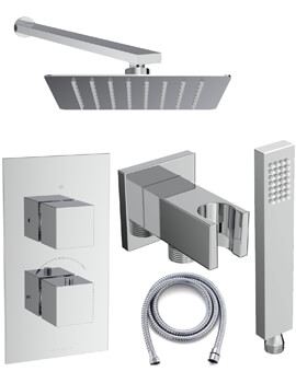 Saneux Tooga Two Outlet Thermostatic Valve With Shower Kit