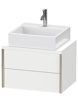 Duravit Xviu Vanity Unit 2 Drawers Wall Mounted With Console Compact