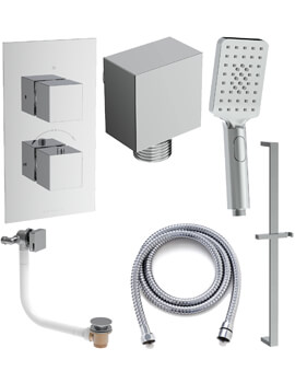 Saneux Tooga 2 Outlet Thermostatic Valve With Shower Kit