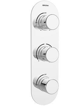 Bristan Exodus Thermostatic Recessed Shower Valve With Stopcock