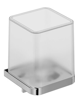 VitrA Projekta Wall Mounted Glass Soap Dispenser