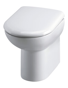 Hudson Reed 375 x 545mm Comfort Height Back To Wall Pan And Soft-Close Seat