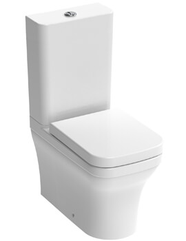 Saneux Indigo 650mm Projection Close Coupled WC Pan With Cistern And Soft Close Seat