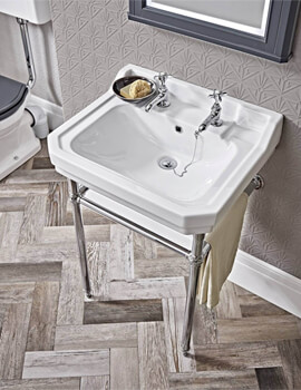 Tavistock Vitoria Chrome Traditional Washstand 544 x 443mm