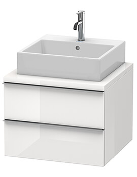 Duravit Happy D2 Wall Mounted 2 Drawers Vanity Unit With Console Compact