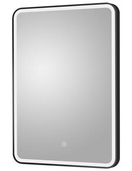 Hudson Reed LED Illuminated Touch Sensor Black Framed Mirror 500 x 700mm