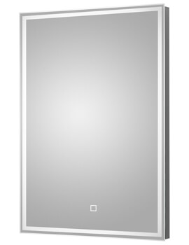 Hudson Reed LED Illuminated Glass Mirror With Demister Pad 500 x 700mm